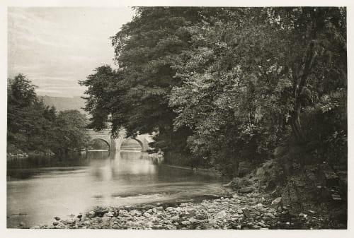 Plate XXXVI Rowsley Bridge, on the Derwent Bankart, George  (British, 1829-1916)