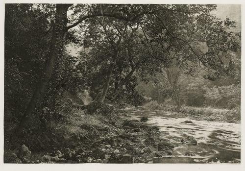 Plate XLVI Near Reynard's Cave, Dove Dale Bankart, George  (British, 1829-1916)