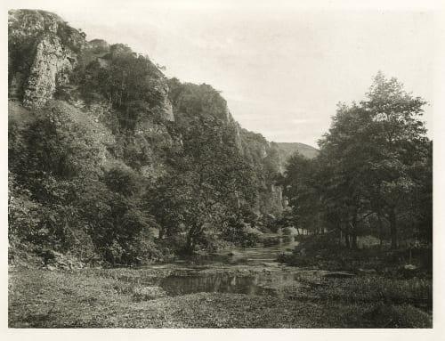 Plate LIV Wolfscote Bridge and Franklin Rock, Beresford Dale Bankart, George  (British, 1829-1916)