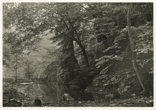 "Plate LI ""Pike Pool"" (From Below) Bankart, George  (British, 1829-1916)"