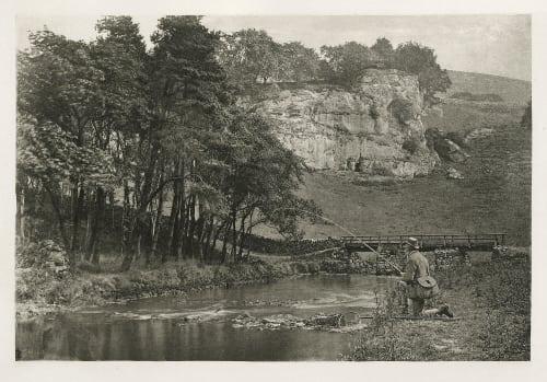 Plate LIV Wolfscote Bridge and Franklyn Rock, Beresford Dale Bankart, George  (British, 1829-1916)
