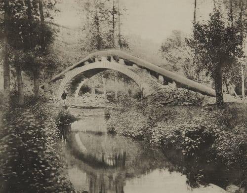 Pl. 22 Pont de Chézy-l'Abbaye (Aisne) Sur le Ruisseau du Doloir État des travaux le 3 Octobre 1864