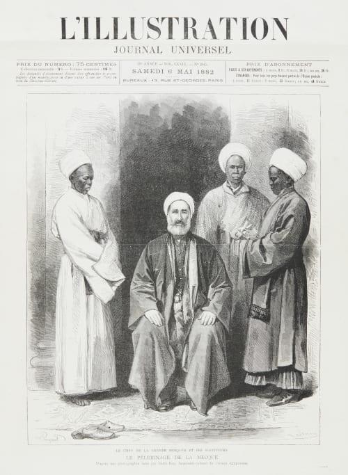 Le Pélerinage de la Mecque; Le Chef de la Grande Mosquée et ses Serviteurs Bey, Sadik  (Egyptian, 1832-1902)