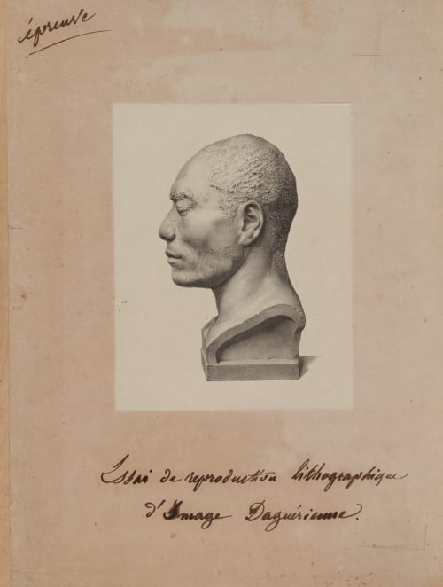 Test lithograph from daggureotype Bisson, Louis-Auguste  (French, 1814-1876)