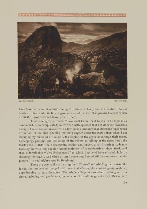 Parnassus. Our Bivouac Boissonnas, Fred  (Swiss, 1858-1946)