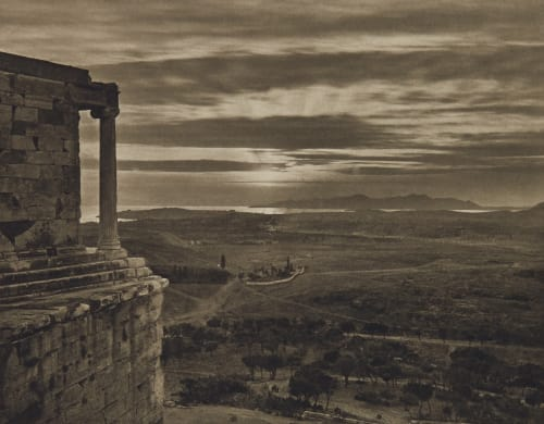 View of the Athenian Plain from the Upper Part of the Propylæa Boissonnas, Fred  (Swiss, 1858-1946)