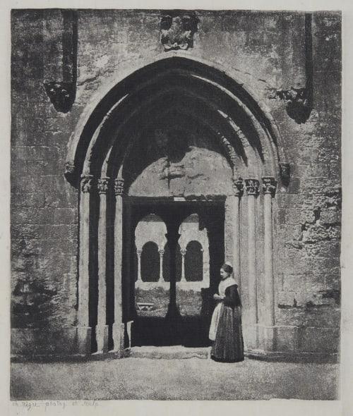 Arles, arlésienne à l'entrée du cloitre de Saint-Trophime Negre, Charles  (French, 1820-1880)