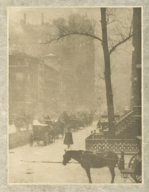 The Street-Design for a Poster Stieglitz, Alfred  (American, 1864-1946)
