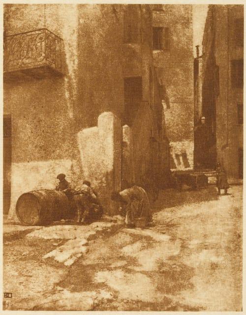Street in Mentone Demachy, Robert  (French, 1859-1936)