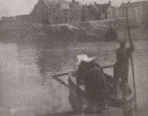 The Ferry, Concarneau Devans, Mary  (American, 1857-1920)