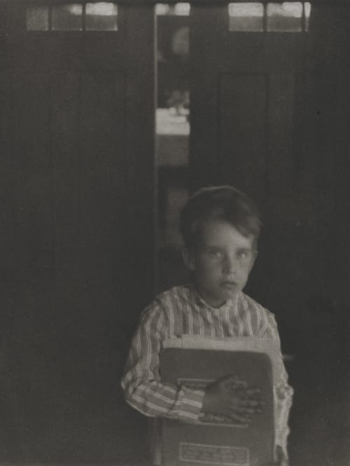 Boy with Camera Work White, Clarence H.  (American, 1871-1925)