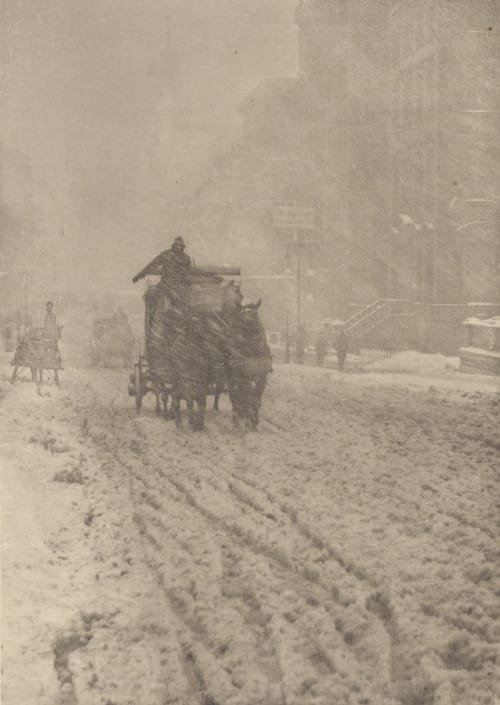 Winter – Fifth Avenue Stieglitz, Alfred  (American, 1864-1946)