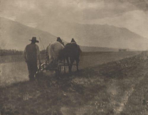 Ploughing Stieglitz, Alfred  (American, 1864-1946)