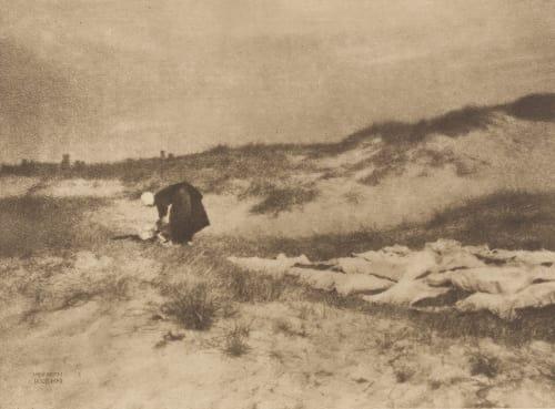 Washerwoman on the Dunes Kuehn, Heinrich  (Austrian-German, 1866-1944)