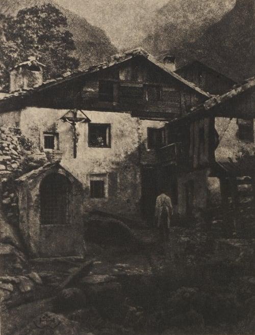 A Village Corner Watzek, Hans  (Austrian, 1848-1903)