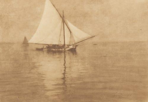 A White Sail Watzek, Hans  (Austrian, 1848-1903)