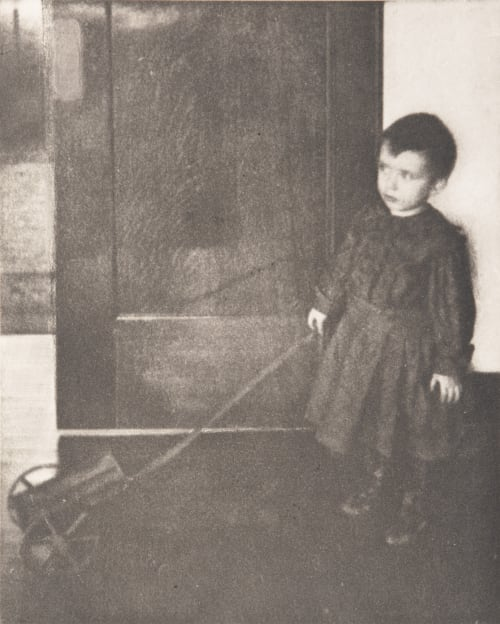 Boy with Wagon White, Clarence H.  (American, 1871-1925)
