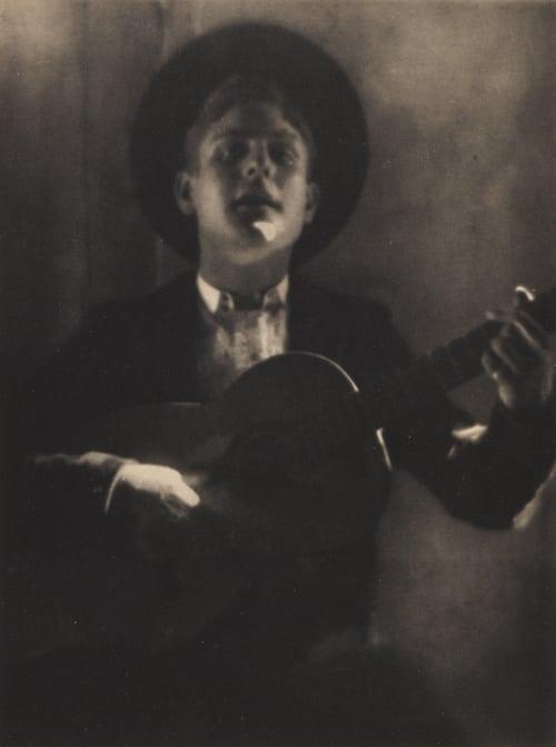 Guitar Player of Seville De Meyer, Baron Adolf  (American, 1868-1946)