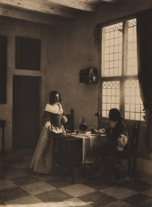 A Flemish Interior Rey, Guido  (Italian, 1861-1935)
