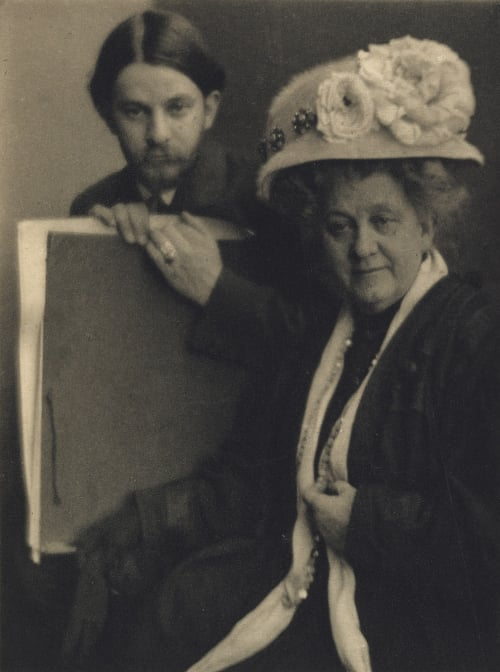 Alvin Langdon Coburn and His Mother White, Clarence H.  (American, 1871-1925)