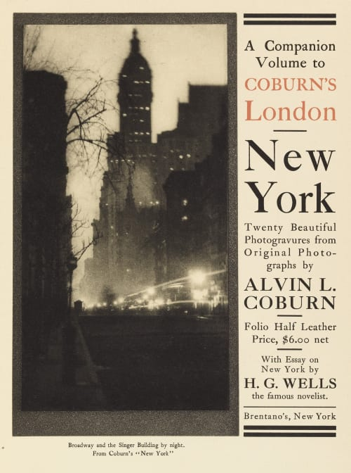 Advertisement for New York Coburn, Alvin Langdon  (American, 1882-1966)
