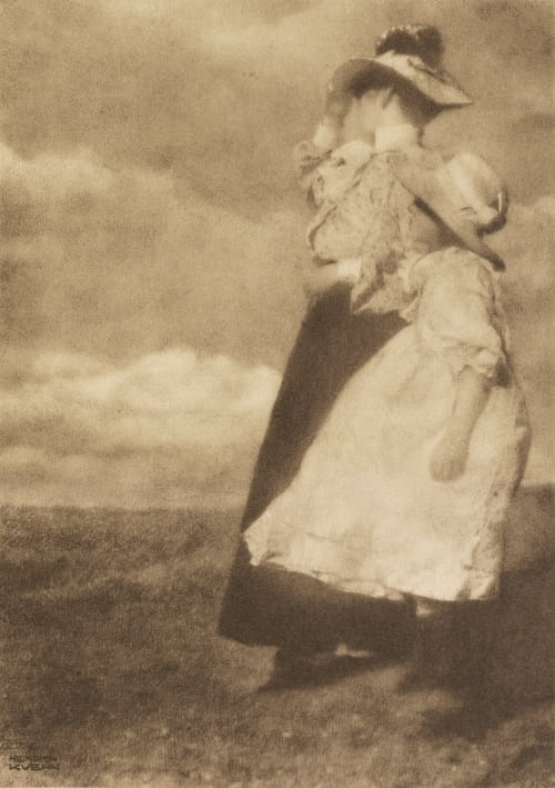 Windblown Kuehn, Heinrich  (Austrian-German, 1866-1944)
