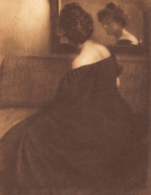 Portrait – The Mirror Kuehn, Heinrich  (Austrian-German, 1866-1944)