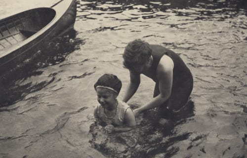 The Swimming Lesson Stieglitz, Alfred  (American, 1864-1946)