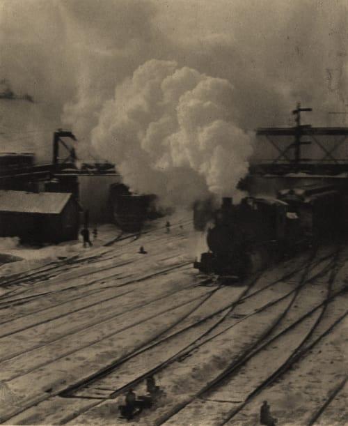In the New York Central Yards Stieglitz, Alfred  (American, 1864-1946)