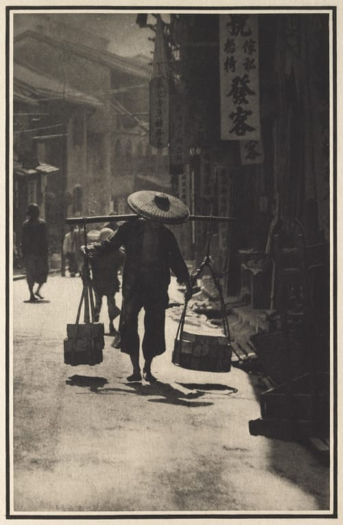 A Street in China De Meyer, Baron Adolf  (American, 1868-1946)