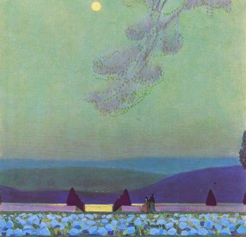 Nocturne – Hydrangea Terrace, Chateaux Ledoux Steichen, Edward  (American, 1879-1973)