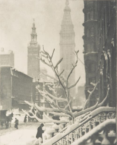 Two Towers – New York Stieglitz, Alfred  (American, 1864-1946)