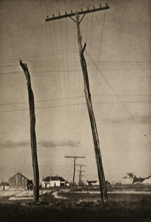 Telegraph Poles Strand, Paul  (American, 1890-1976)
