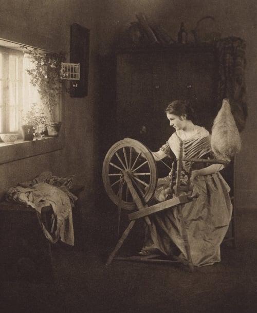 Spinning Clarkson, Emilie V.  (American, 1863-1946)