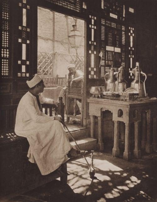 A Cairene Cafe Ashton, Ernest R.  (British, 1867-1951)