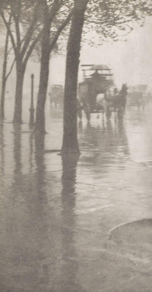 Spring Showers, The Coach Stieglitz, Alfred  (American, 1864-1946)