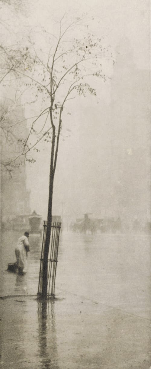 Spring Showers, The Sweeper Stieglitz, Alfred  (American, 1864-1946)