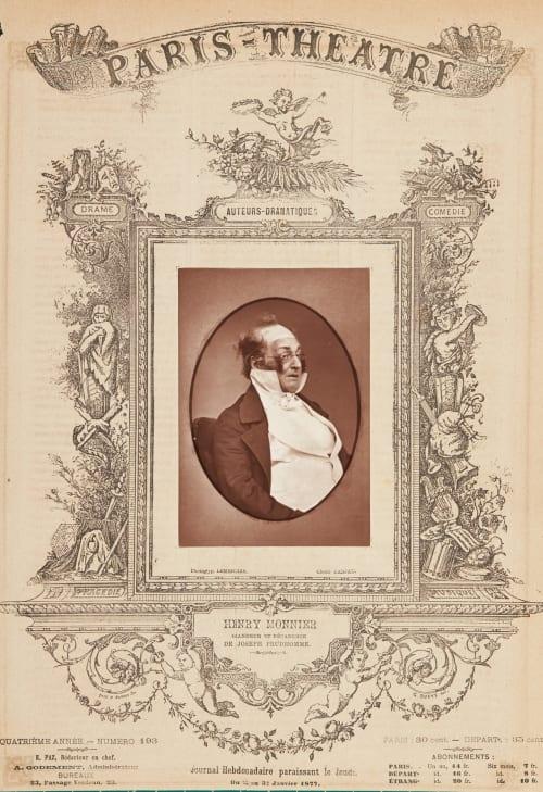 Henri Monnier Carjat, Etienne  (French, 1828-1906)