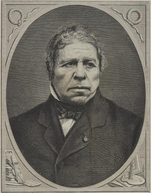 Ingres – Dessin de Rousseau, d'aprés une photographe de Carjat Carjat, Etienne  (French, 1828-1906)