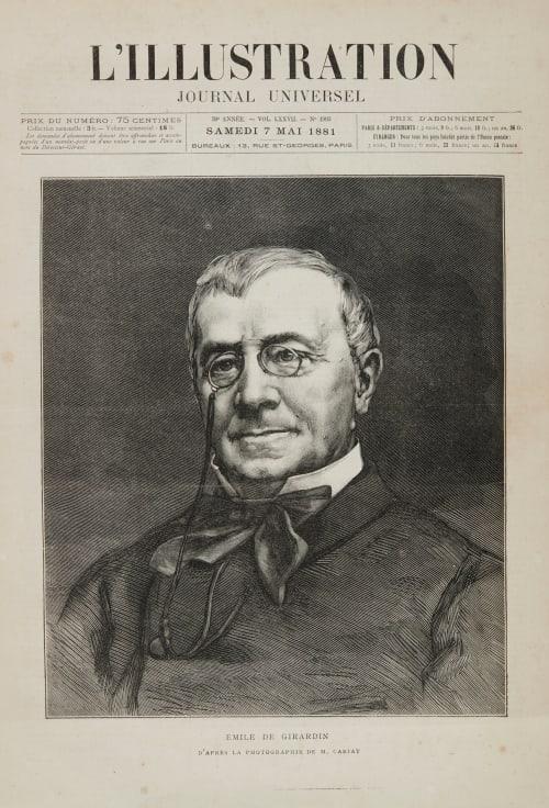 Emile de Girardin d'apres la photographie de M. Carjat Carjat, Etienne  (French, 1828-1906)