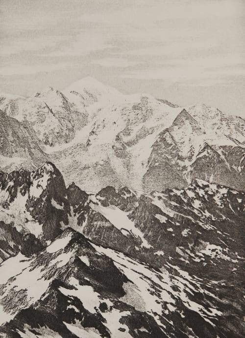 Le Mont Blanc _ 4810m Civiale, Aimé  (Italian, 1821-1893)