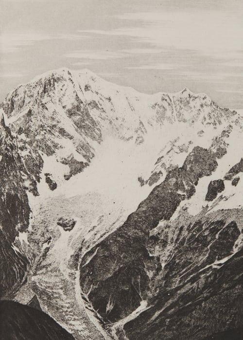 Le Mont Blanc – 4810m Civiale, Aimé  (Italian, 1821-1893)