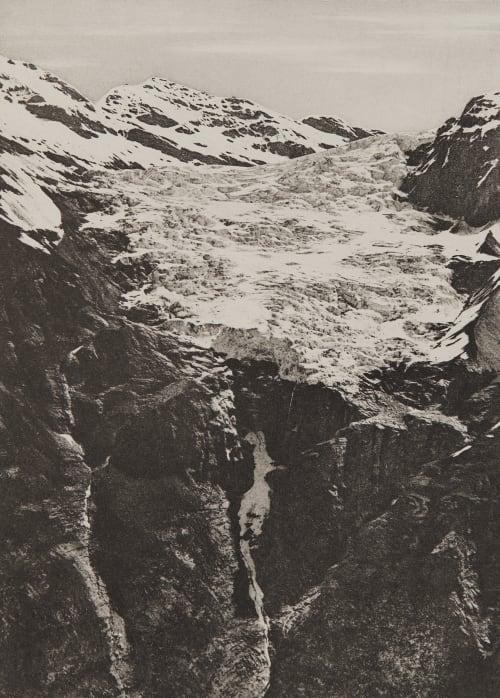 Le Glacier de Gétroz Civiale, Aimé  (Italian, 1821-1893)