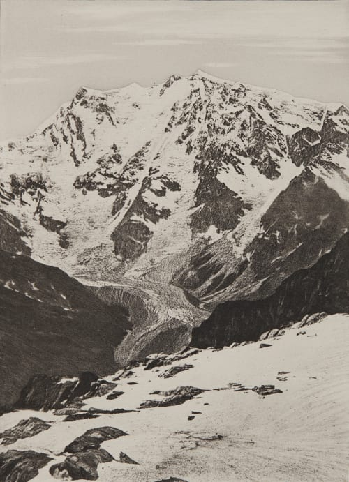 Le Mont Rose _ 4638m Civiale, Aimé  (Italian, 1821-1893)