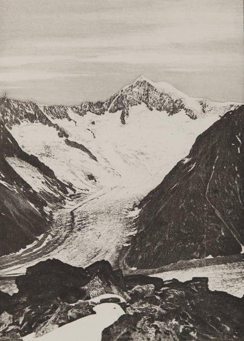 L' Aletschhorn _ 4207m Civiale, Aimé  (Italian, 1821-1893)