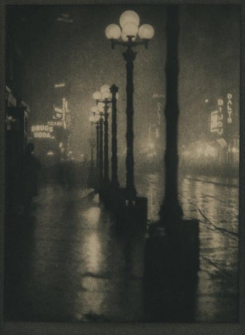 Broadway at Night Coburn, Alvin Langdon  (American, 1882-1966)