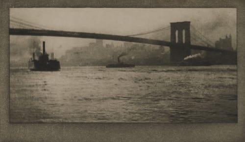 Brooklyn Bridge From River Coburn, Alvin Langdon  (American, 1882-1966)