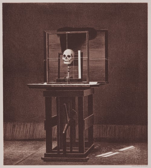 Arrangement for Taking Composite Photographs of Skulls, Photograph No. 1 Bien, Julius  (American, 1826-1909)