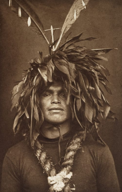 Warrior's Feather Head-dress – Cowichan Curtis, Edward Sherrif  (American, 1868-1952)