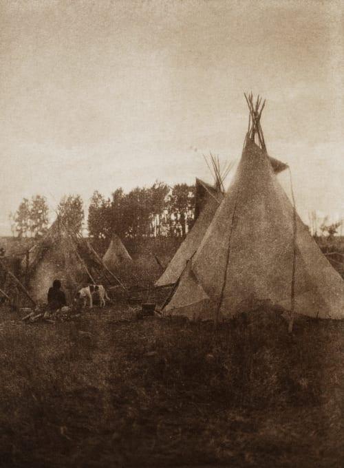 A Cree Camp Curtis, Edward Sherrif  (American, 1868-1952)